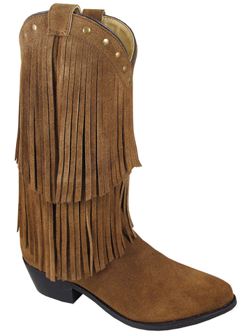 Smoky Womens Wisteria Double Fringe Tan Western Boot