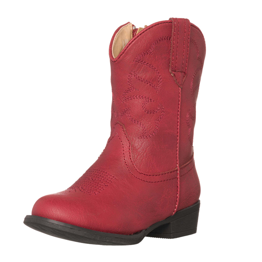 little girls red cowboy boots
