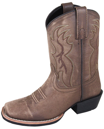 Smoky Mountain Boys Vintage Brown Gallup Square Toe Western Boot - westernoutlets