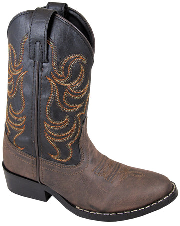 Smoky Mountain Children Boys Monterey Western Cowboy Boots Brown/Black