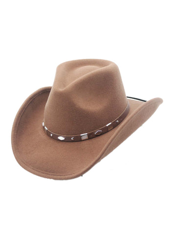 Winslow Shapeable Wool Felt Outback Western Style Cowboy Hat by Silver Canyon