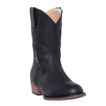 Silver Canyon Boys Children Monterey Western Cowboy Boot - Black