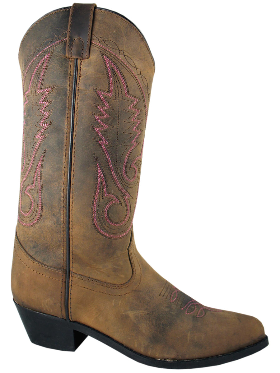 Women's Taos Leather Distressed Brown Western Cowboy Boot