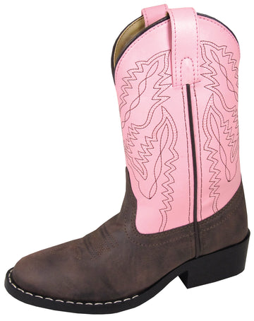 Smoky Mountain Youths Girls Monterey Western Cowboy Boots Brown/Pink