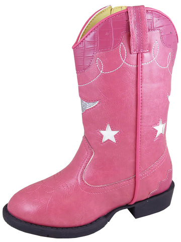 Smoky Mountain Toddler Pink Austin Lights Western Cowboy Boot with Zipper