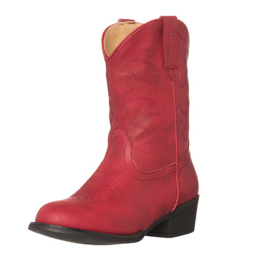 Children Western Kids Cowboy Boot | Monterey Red for Girls by Silver Canyon