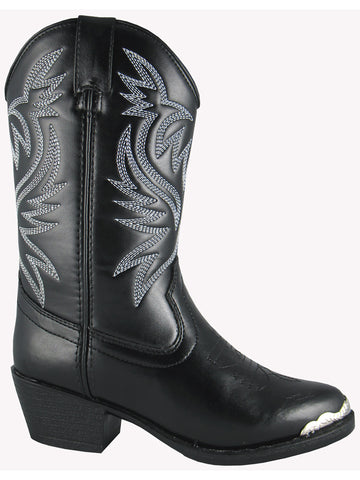 Smoky Mountain Youths Black Mesquite Western Cowboy Boot