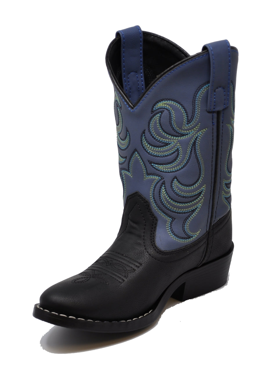 Smoky Mountain Boys Black/Blue Monterey Western Cowboy Boots - westernoutlets