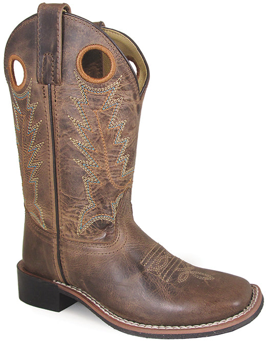 880b1fe3d05 Smoky Mountain Boys Brown Distressed Jesse Square Toe Western Cowboy ...