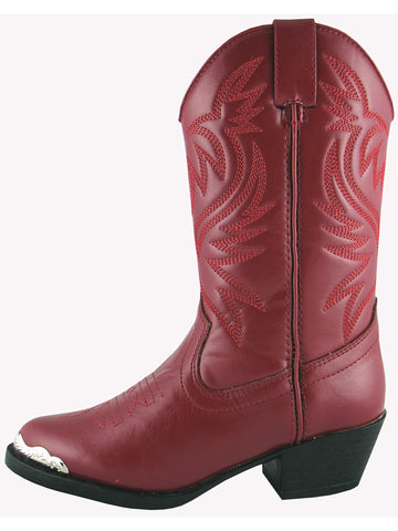 Smoky Mountain Childrens Red Mesquite Western Cowboy Boot