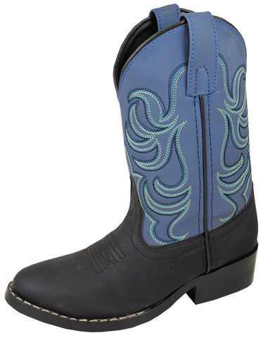 Smoky Mountain Boys Black/Blue Monterey Western Cowboy Boots