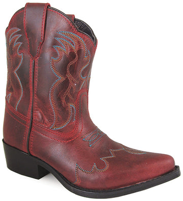 Smoky Mountain Girls Red Juniper Short Snip Toe Western Cowboy Boot