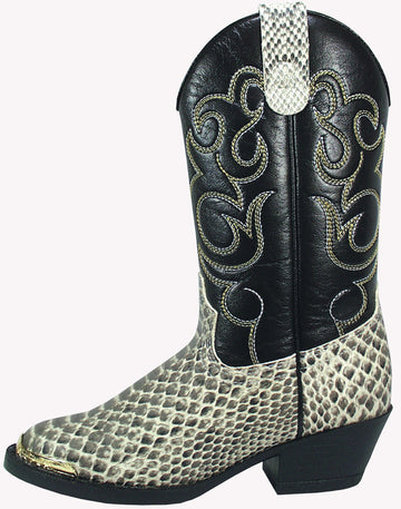 Smoky Mountain Boys' Snake Print Cowboy Boot Round Toe