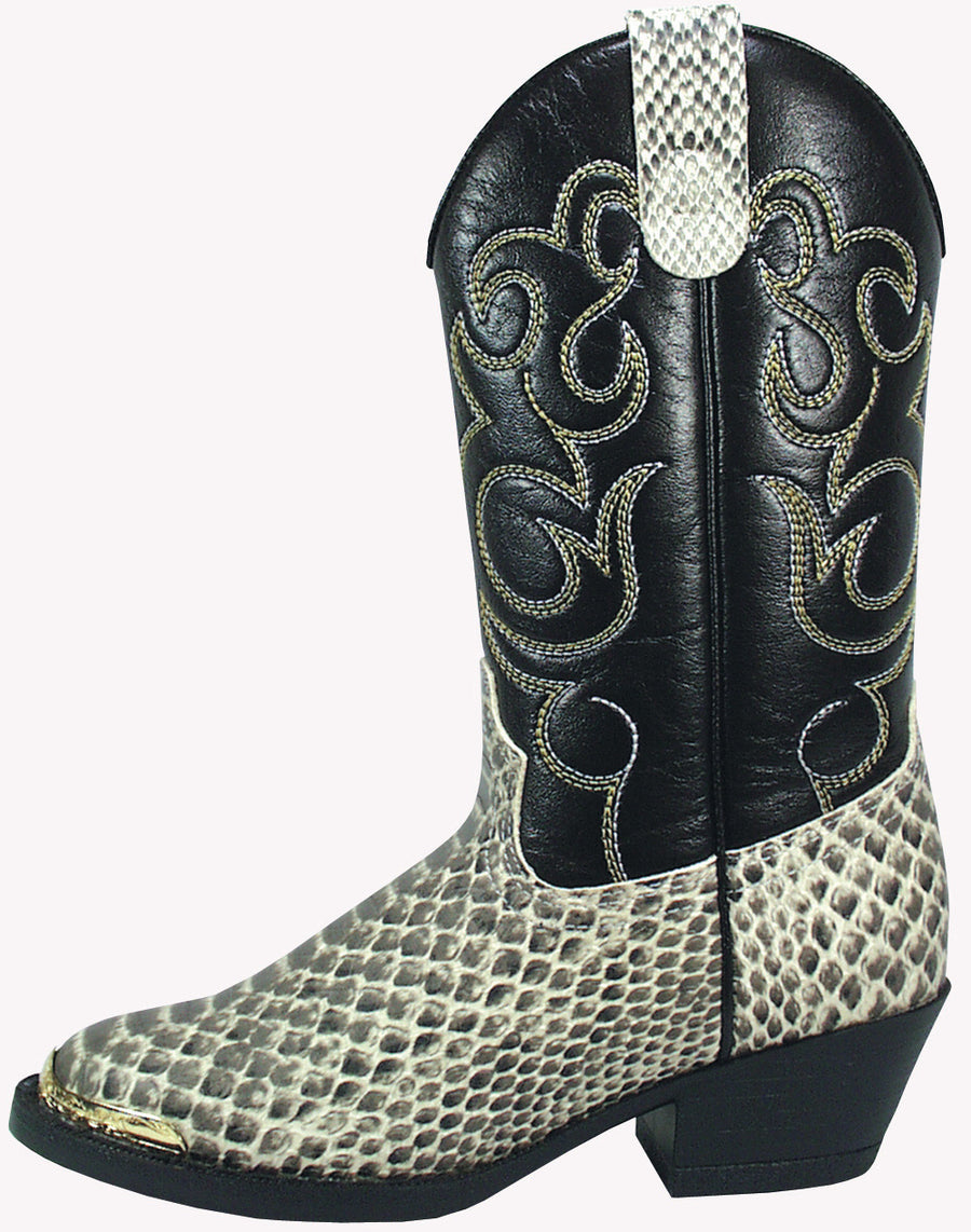 dd699387126 Smoky Mountain Boys' Snake Print Cowboy Boot Round Toe – westernoutlets