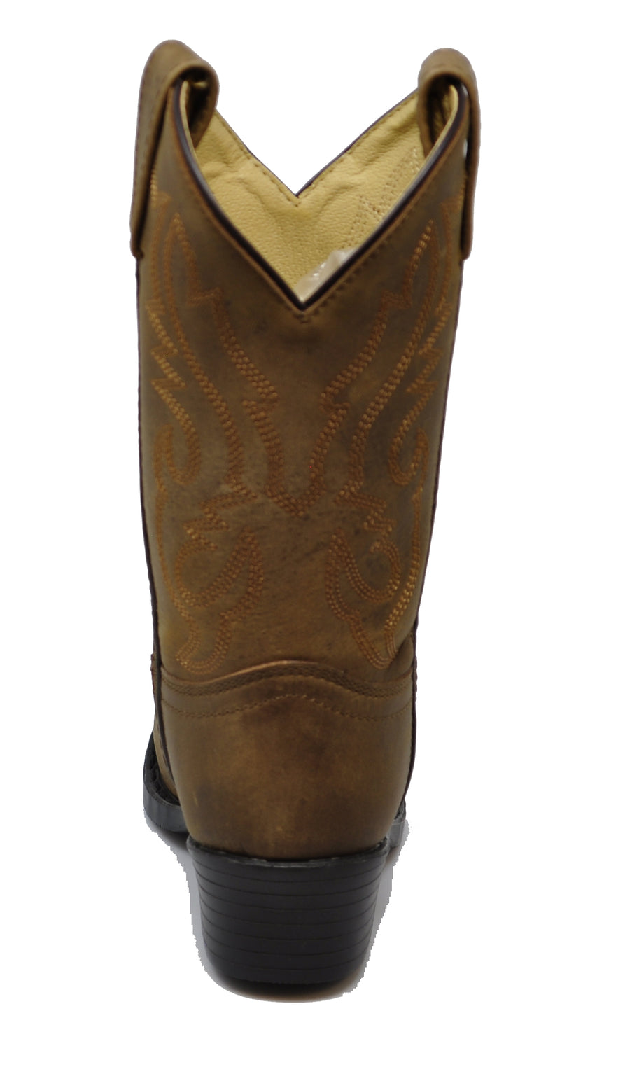 Smoky Mountain Childrens Denver Distressed Brown Leather Cowboy Boots