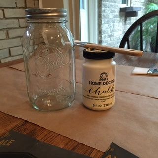 Mason Jar and Chalk Paint