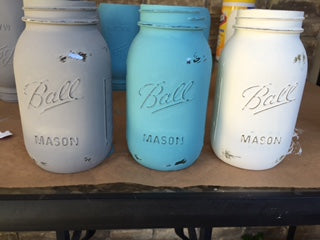 Rustic Distressed Mason Jars