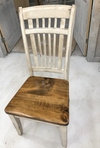 Paint Matched Chair + Custom Wood Seat