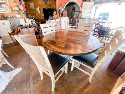 TMTD VIRTUAL MARKET: FOUR - PERSON ROUND TRESTLE TABLE SET