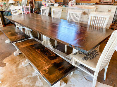 TMTD VIRTUAL MARKET: TEN - PERSON TRESTLE  TABLE SET