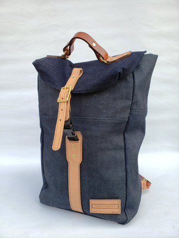"Varsity Brown ""Denim"" Ruck Sack"