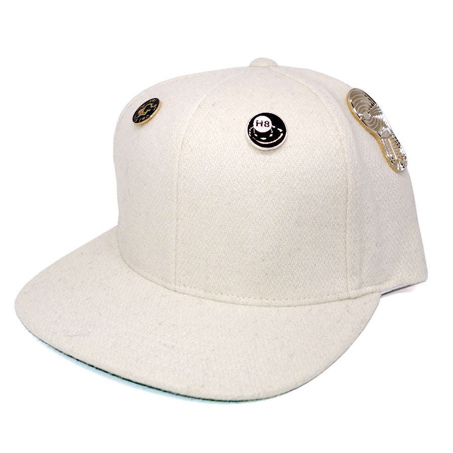 "Parlor 23 ""4 Pin Combo"" (Natural Wool) Snapback"