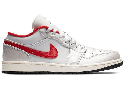 "Jordan 1 Low Premium ""Metallic Silver / University Red""  2020"