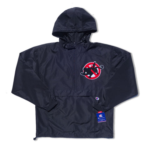 "Parlor 23 X Champion Chenille ""Keep Quiet"" Packable Anorak Jacket"