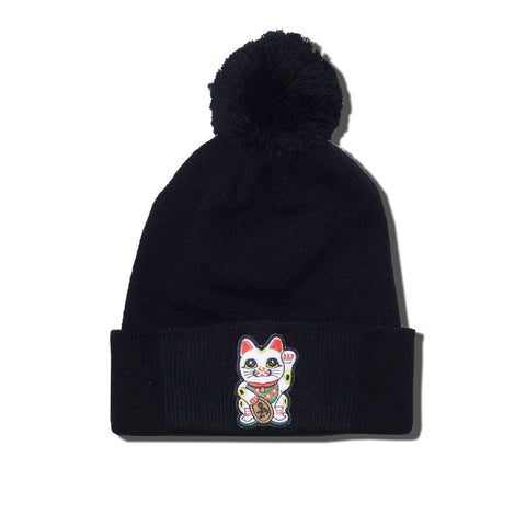 "Parlor 23 ""Money Cat"" Pom Pom Beanie"