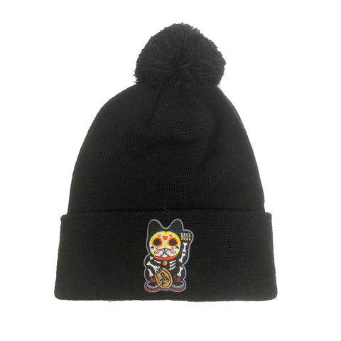 "Parlor 23 ""Custom Patch"" (Black) Pom Pom Beanie"