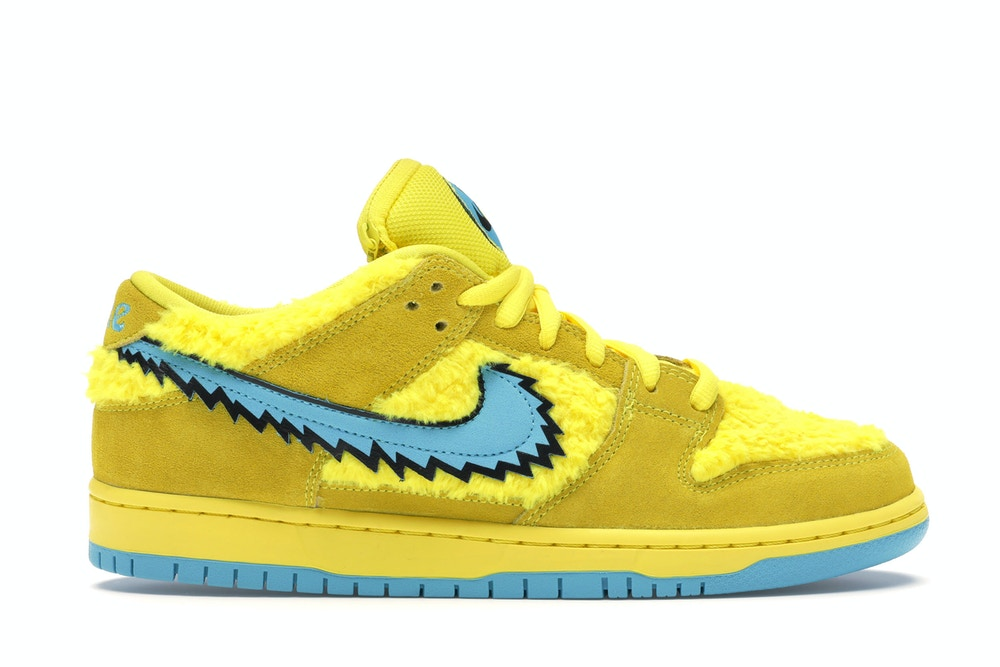 "Nike SB Dunk Low ""Grateful Dead Bears"" Opti Yellow 2020"