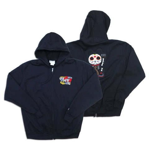 "Parlor 23 X Champion ""Skeleton Get That Money"" Zip Hoodie"
