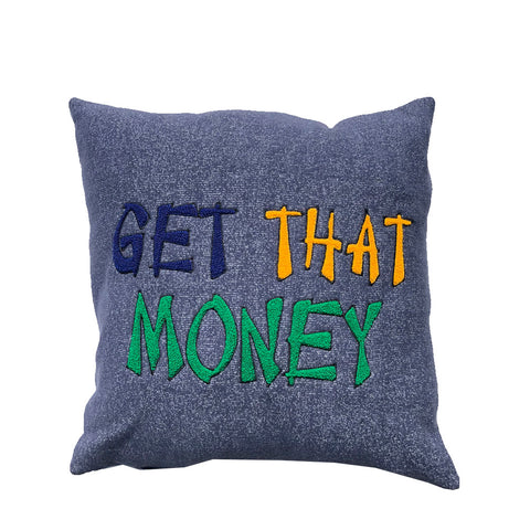 "Parlor 23 ""Get That Money Chenille"" (Navy) Pillow"