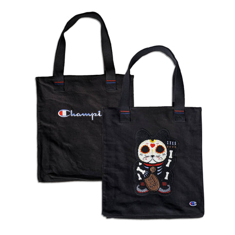 "Parlor 23 X Champion ""Skeleton Get That Money"" Tote Bag"