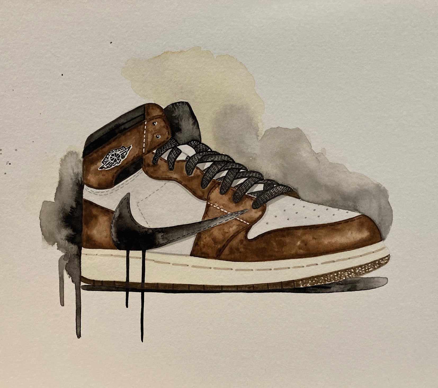 "Red9ine Original Painting ""Jordan 1 Travis"""