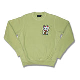 "Parlor 23 Chenille ""Get That Money"" (Lime) Heavyweight Crewneck"