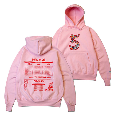 "Parlor 23 X Champion RW  ""5 Year Menu"" Embroidered Hoodie"