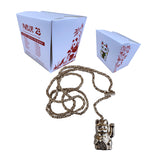 "Parlor 23 ""Get That Money"" Pendant & Rosary Rope Link Chain"