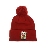 "Parlor 23 ""Custom Patch"" (Red) Pom Pom Beanie"