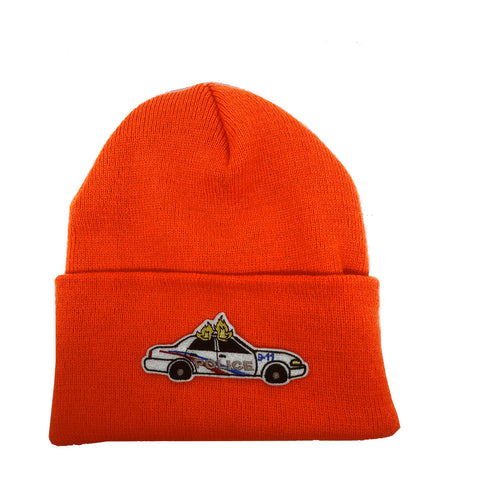 "Parlor 23 ""Custom Patch"" (Safety Orange) Cuff Beanie"