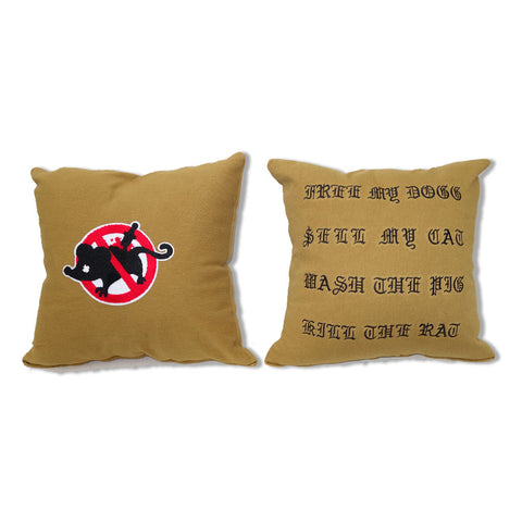"Parlor 23 Chenille ""Keep Quiet"" Throw Pillow"