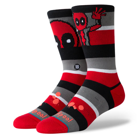 "Stance ""Marvel Deadpool Stripe"" (Red)"