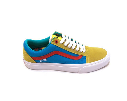 "Vans Old Skool Pro Golf Wang ""Yellow/Blue/Red"" 2015"