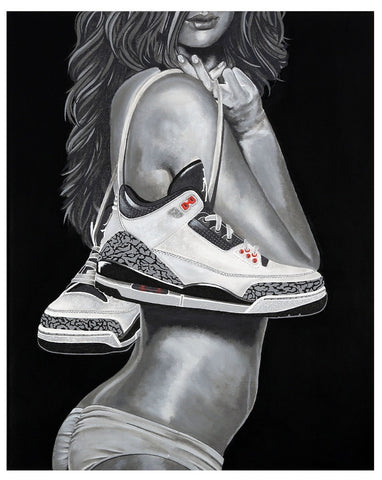 "Red9ine Print ""Cement Girl"""