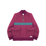 "GSM ""Cartier"" Quarter-Zip Fleece Bomber (Plum)"