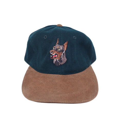 "Parlor 23 ""Krueger"" (Forest Green Wool/Leather) Strapback"