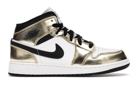 "Jordan 1 Mid ""Metallic Gold Black White"" 2020"