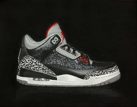 "Red9ine Print ""Jordan 3 Black Cement"""