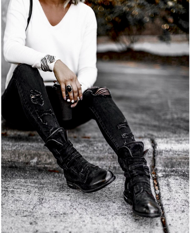 photo of leather boots