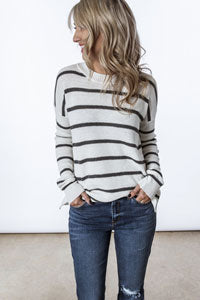 casual jeans and cozy sweater